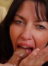 Beautiful Mature Brunette Blowjob