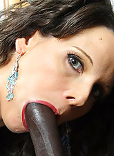 Wild interracial action between a woman and her stepson