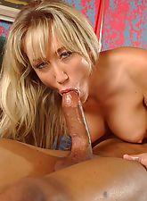 Hot mom gives a deep throat blowjob