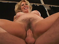 His friends hot mom rides his cock like crazy!