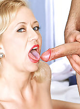 Ami Charms sucking cock wild