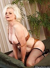 Kinky granny gets wild for the camera