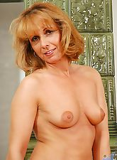 Horny anilos cougar koko plunges a golden vibrator in and out of her juicy cougar snatch